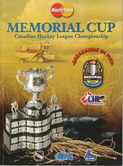 PROGRAM-2001 - PROGRAM - MEMORIAL CUP PROGRAM COVER