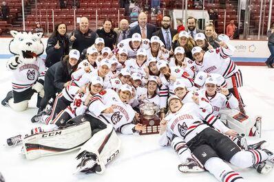 2018 Hockey East Women's champions Northeastern Huskies