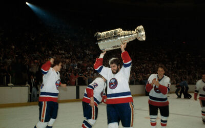 Gord Lane with Stanley Cup