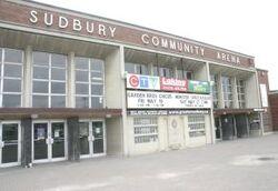 Sudbury Arena outside