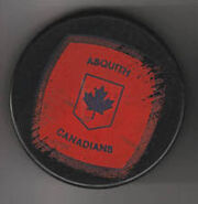 Asquith Canadians puck with logo