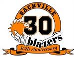 Sackville Blazers 30th logo