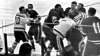 Bob Leiter vs Eddie Shack Jan 18, 1964