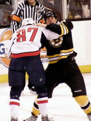 Donald Brashear and Byron Bitz fight