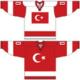 Turkey national ice hockey team Home & Away Jerseys