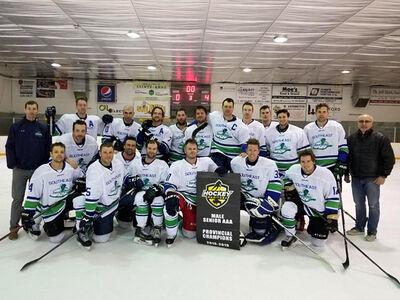 2019 Manitoba Senior AAA champions Southeast Prairie Thunder