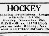 1926-27 Canadian Professional Hockey League Season