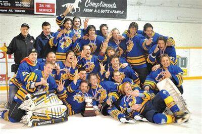 2011 SaskAlta Hockey League champions Dewberry Mustangs