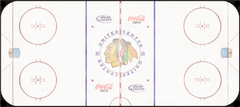 Chicago Blackhawks ice rink logo