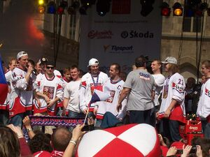 Arrival of the ice hockey world champions - Prague, Old Town Square - 24 May 2010