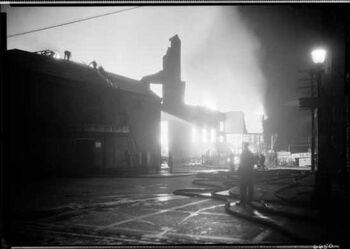 Denman Arena fire