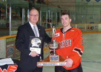 Tristan Keck receives Vince Leah Memorial Trophy