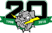 Drayton Valley Thunder 20th anniversary logo