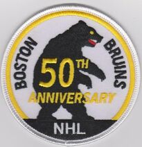 Bruins 50th anniversary patch