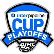 2018 AJHL playoff logo