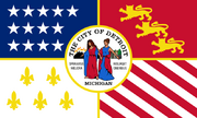 Detroit, Michigan Flag