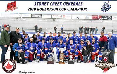 2018 ACH champions Stoney Creek Generals