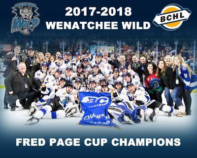 2018 BCHL champions Wenatchee Wild