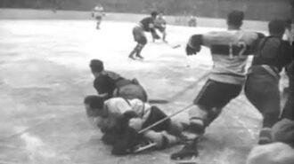 New York Rangers Drop NHL Game to Montreal Canadians at Madison Square Garden (1945)