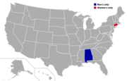 Map - College Hockey - Independents states