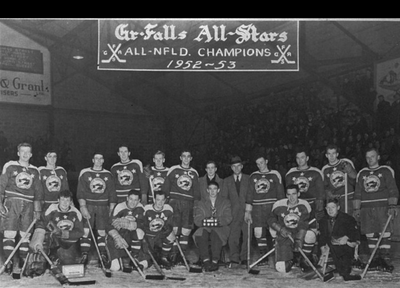 1953 Herder Memorial Trophy champions Grand Falls All-Stars