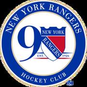 New York Rangers 90th Anniversary logo