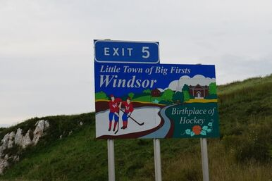 Windsor Nova Scotia exit sign