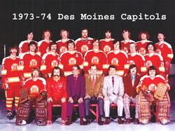 Des Moines Capitols Team Photo 1973 74