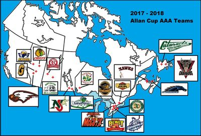 2017-18 Canadian Senior AAA teams