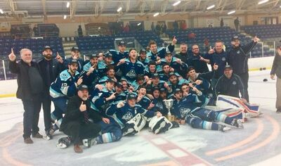 2018 MJAHL champions Edmundston Blizzard