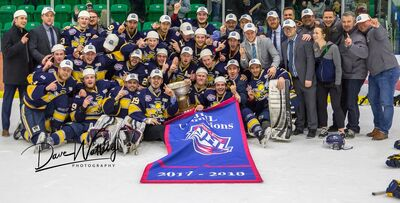 2018 AJHL champions Spruce Grove Saints