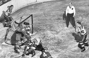 1949-Brimsek-Crawford-Peters-Thompson vs Leafs