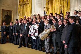Chicago Blackhawks at White House 2013.jpg