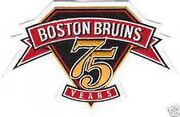 Boston Bruins 75th anniversary patch