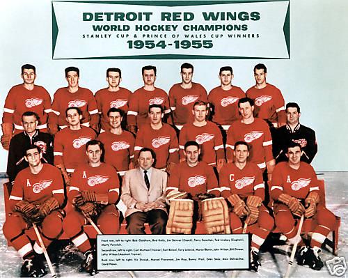 1954 55 Detroit Red Wings Season Ice Hockey Wiki Fandom Powered