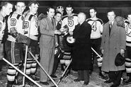 12Apr1941-Bruins receive Cup from Calder