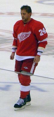 Ruslan Salei Detroit Red Wings Oct 8, 2010