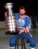Dave Semenko with Cup