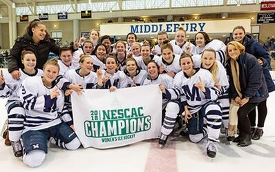 2018 NESCAC Women's champions Middlebury Panthers