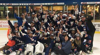 2018 NOJHL champions Cochrane Crunch
