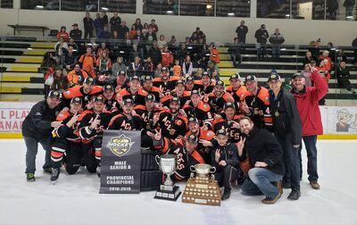 2019 Manitoba Senior A champions Ste. Anne Aces