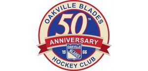 Oakville Blades 50th Anniversary logo