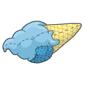 Blueberry Ice Cream Cone Plushie Before 2015 revamp