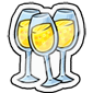 Champagne Sticker