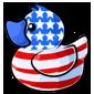 American Flag Ducky