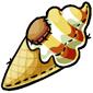 Butterscotch Swirl Ice Cream Cone Plushie