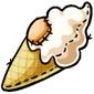 Vanilla Ice Cream Cone Plushie