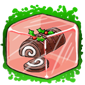 Yule Log Ice Cube