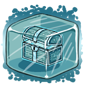 Ice Treasure Chest Ice Cube