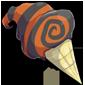 Halloween Swirled Ice Cream Cone
